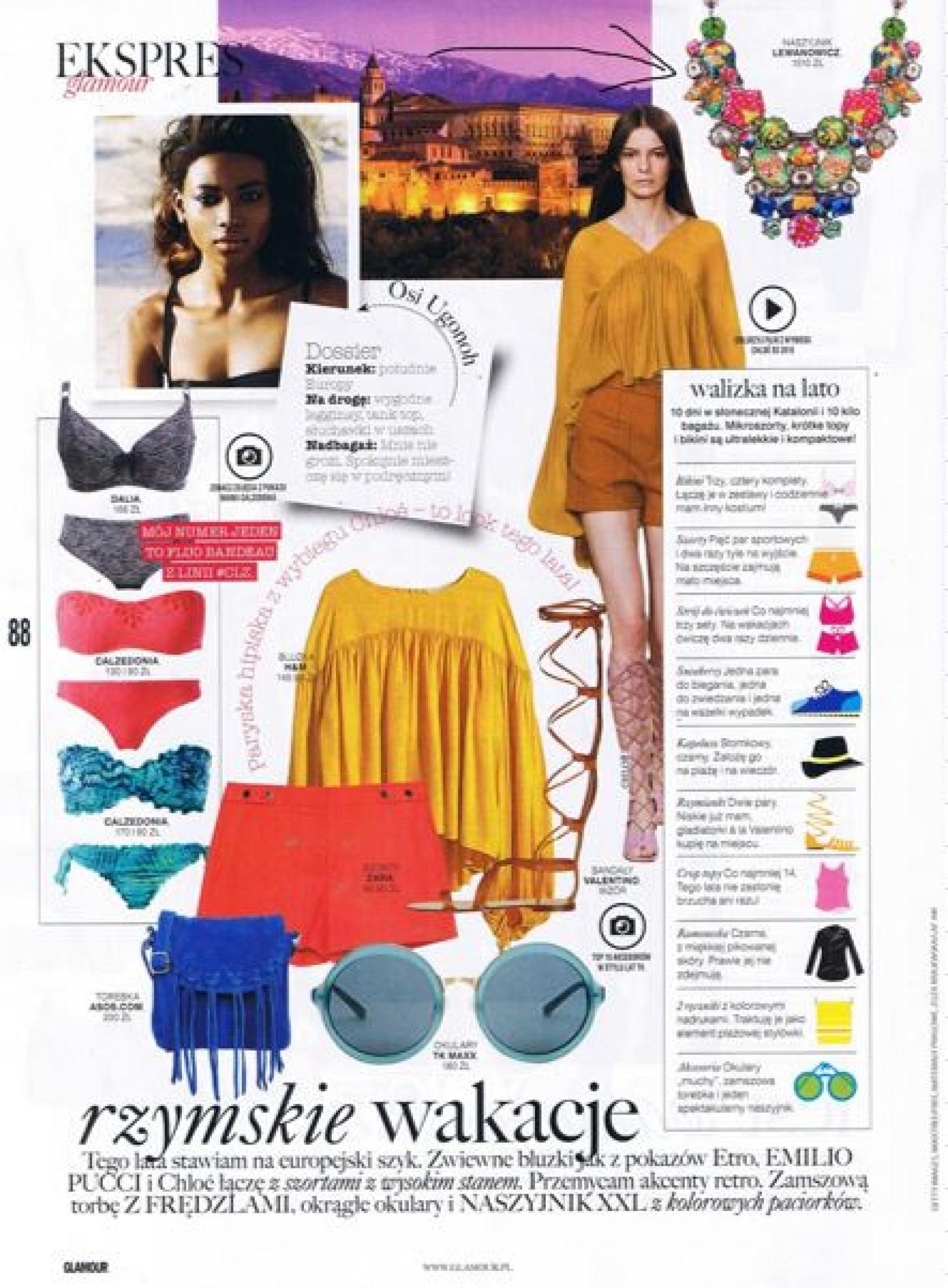 2463261fd Lipcowe Glamour proponuje naszyjnik Ayala Bar który świetnie podkreśla look  tego lata: zwiewne bluzki, akcenty retro i NASZYJNIKI XXL .