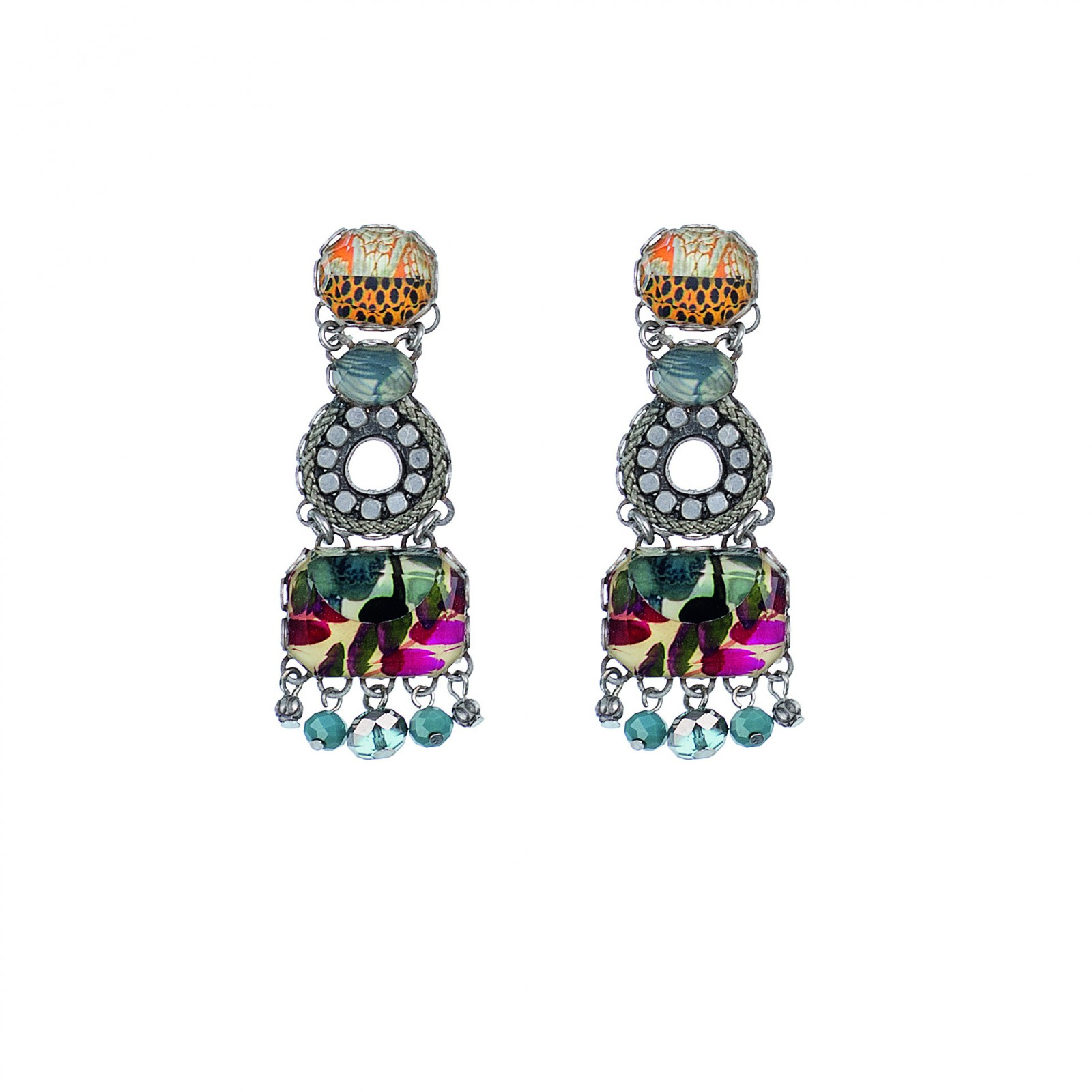 ff56576f03a2 KOLCZYKI NEW z kryształów Swarovskiego i żywicy naturalnej AYALA BAR